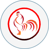 Rooster cafe and grill logo